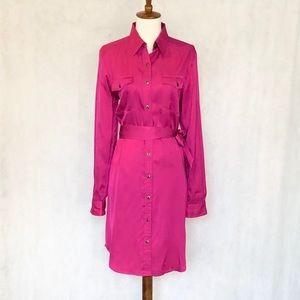 LAUREN Ralph Lauren Pink Button Front Shirtdress